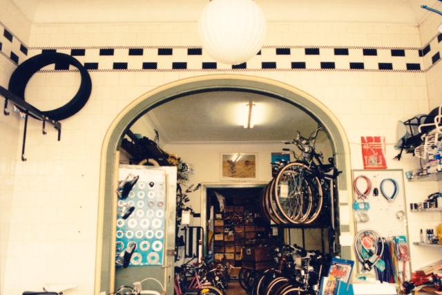 Fietsenwinkel De Geus Antwerpen in de jaren tachtig