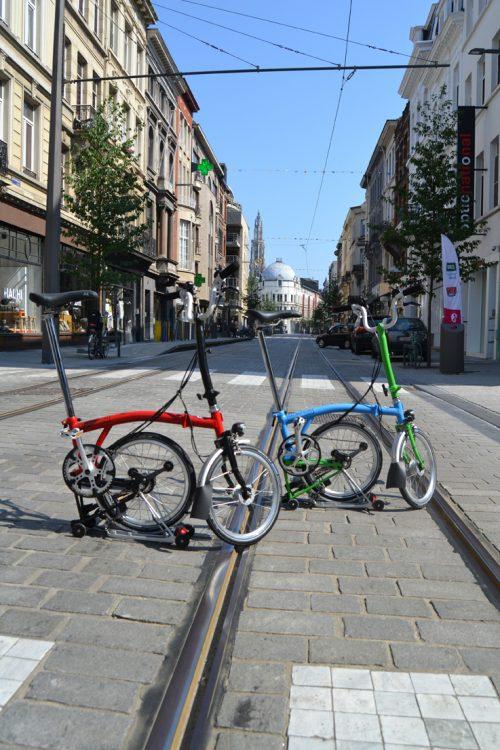 Brompton in Antwerpen: fotoreportage van een vouwfiets