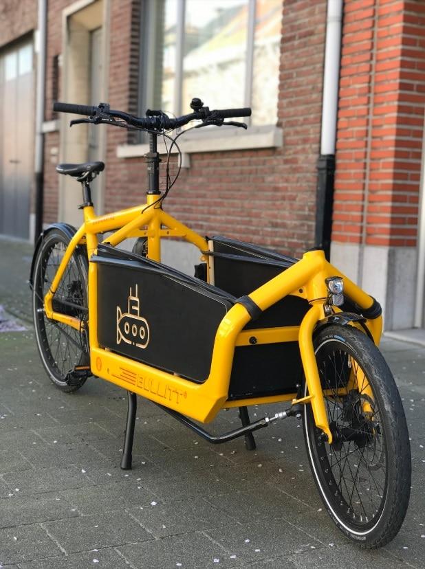 Bullitt cargobike met zijpanelen
