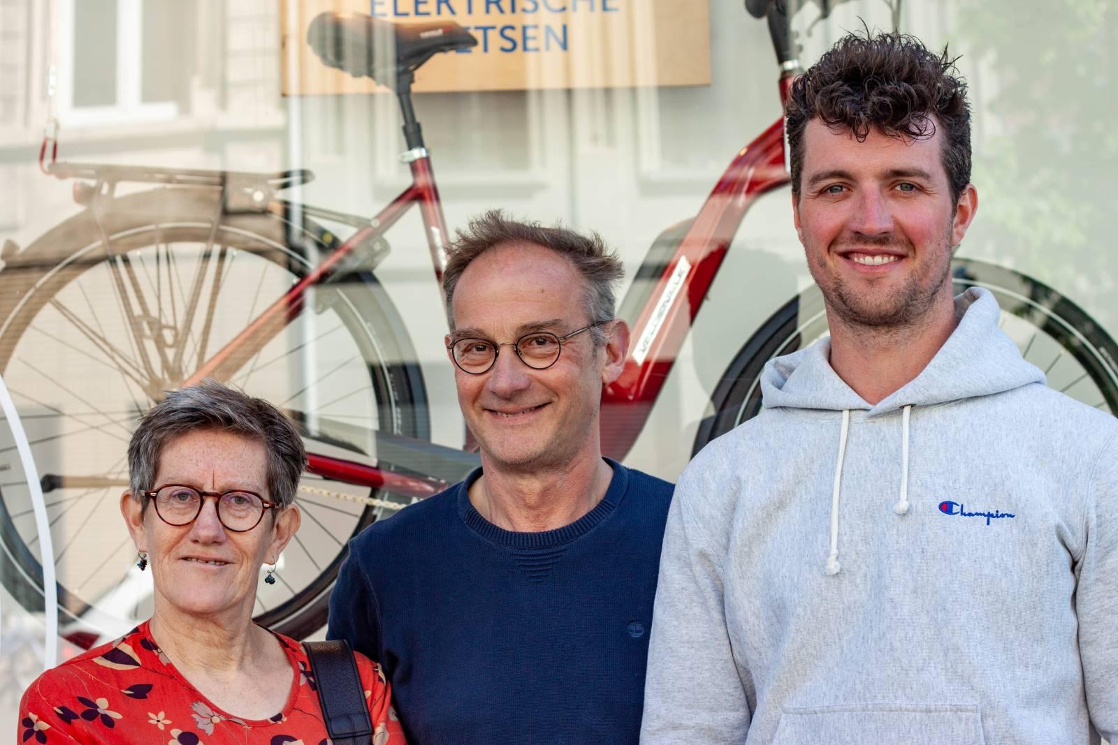 Oprichters en eigenaren Fietsenwinkel De Geus Antwerpen