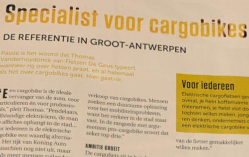 EOS: 'De Geus is dé specialist in cargobikes van Antwerpen'