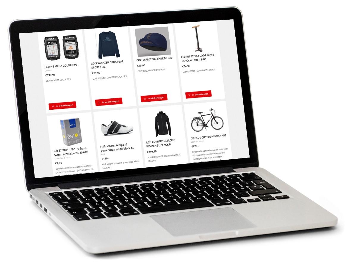 Webshop fietsenwinkel Antwerpen