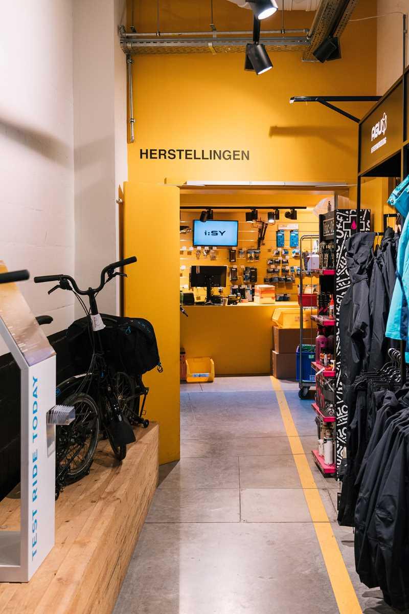 Hoboken fietsenwinkel